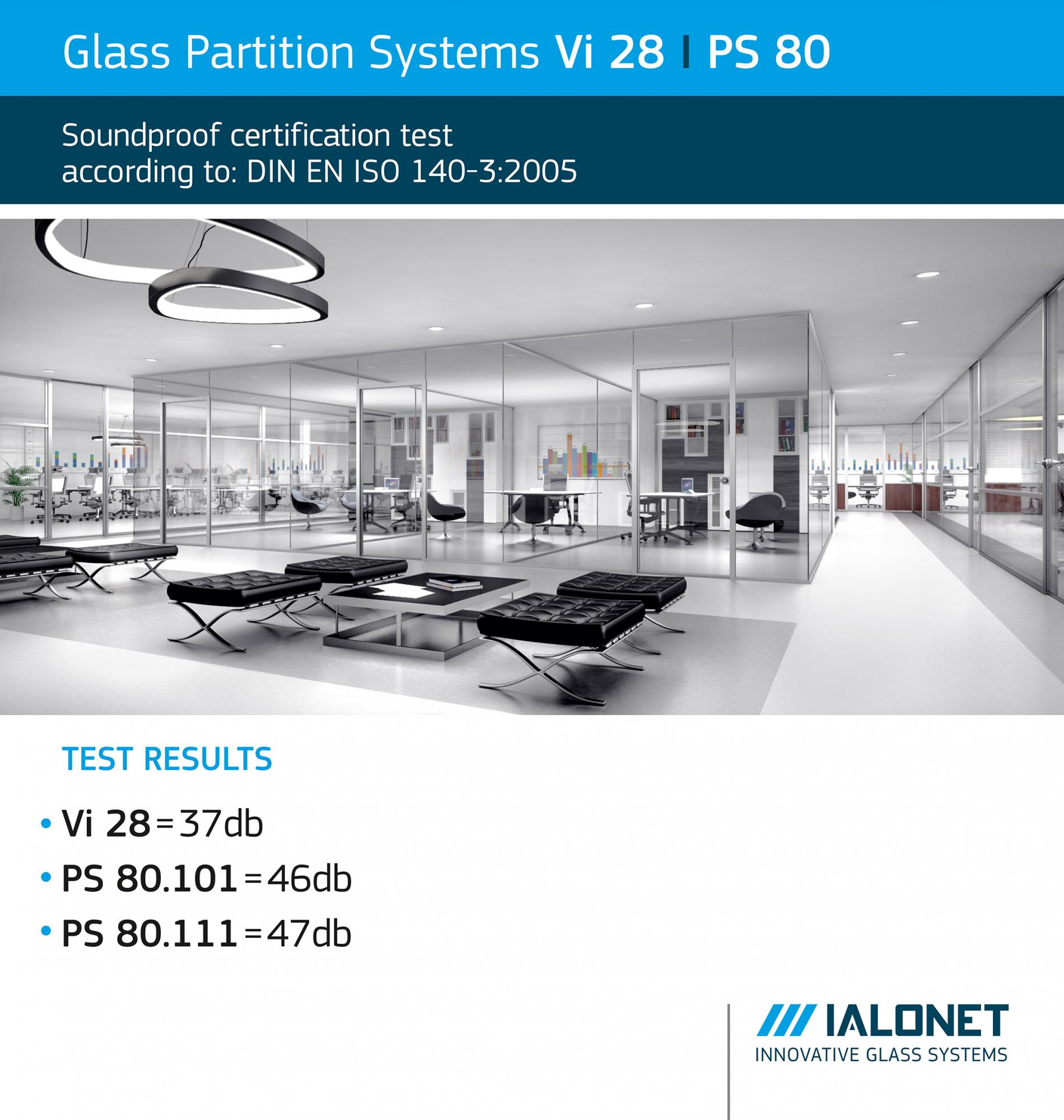 Soundproof Cert. for Partition Systems